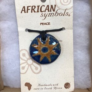Jewelry - African Symbol Ceramic Necklace